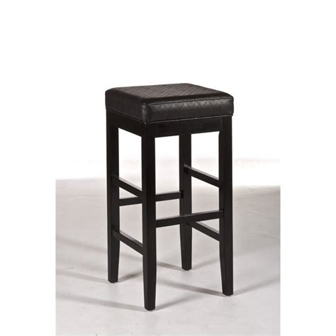 Backless Swivel Bar Stool Hillsdale Hammond Non Swivel Backless Black Finish Bar Stool Ebay