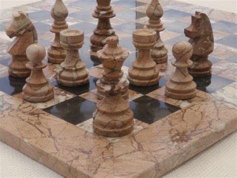 marble chess set marina and boticini black marble chess set with marble board 0 1278 426100