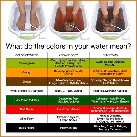 Ion Cleanse Foot Detox Color Chart by What Is Ionic Foot Detox Skin Healing Studio