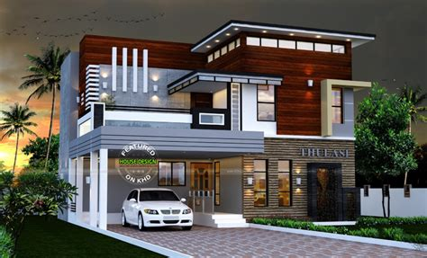 modern house designs pictures gallery 2165 sq ft modern contemporary house amazing