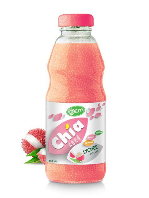 lychee bottle 250ml oem lychee flavor chia seed oem manufacturing