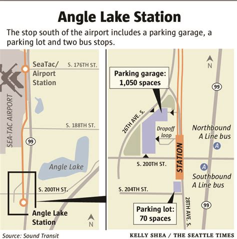 seattle light rail hours angle lake light rail station opens saturday with party
