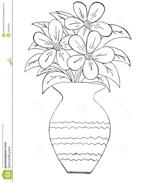 in a flower in a vase drawing at getdrawings free for