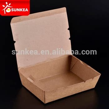 Food Grade Brown Kraft Paper Lunch Box Ukuran L disposable food packing lunch boxes deli boxes food grade cardboard box supplier buy food