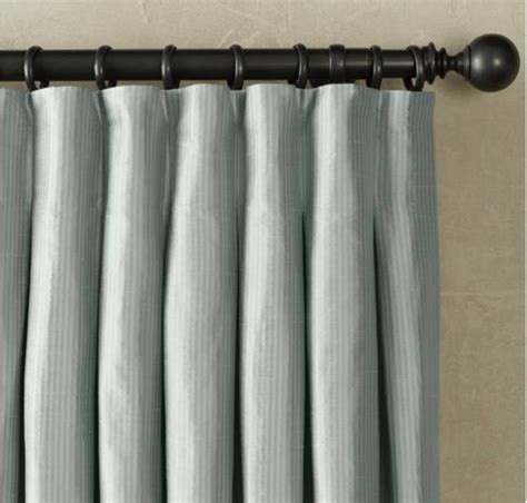 Pinch Pleat Drapery Hardware pleated panel curtains curtain design