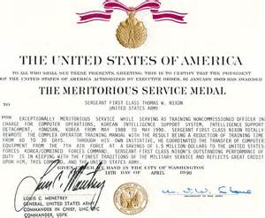 exle citation for retirement meritorious service medal