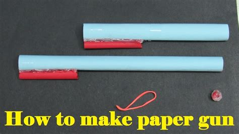 How To Make A Paper Gun That Shoots Without Blowing - how to make a paper gun that shoots paper bullets with