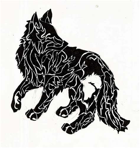 black and white wolf tattoo black and white wolf