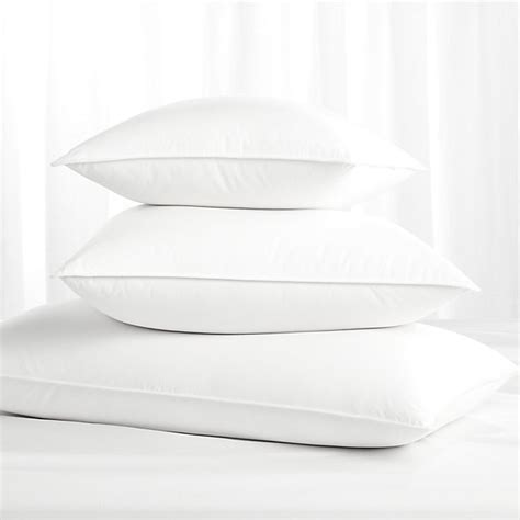 feather bed pillows feather down bed pillows crate and barrel