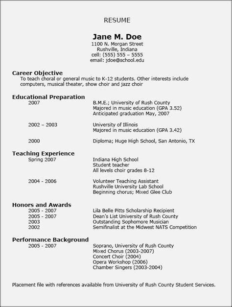 templates for good cv good college resume best of good music resume for college