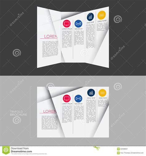dl brochure template trifold brochure template design in dl size stock