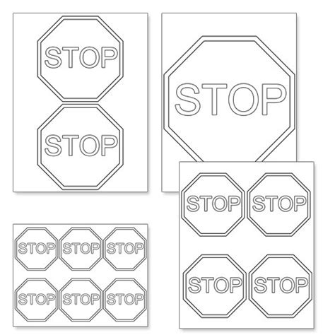 How To Make A Stop Sign Out Of Paper - printable stop sign template from printabletreats