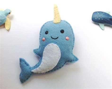 felt narwhal pattern narwhals how to sew and felt on pinterest