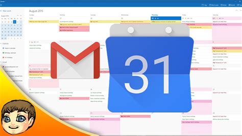 calendar gmail integration w windows 10