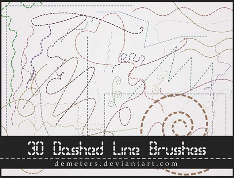photoshop brush pattern lines dashed line brushes by demeters on deviantart