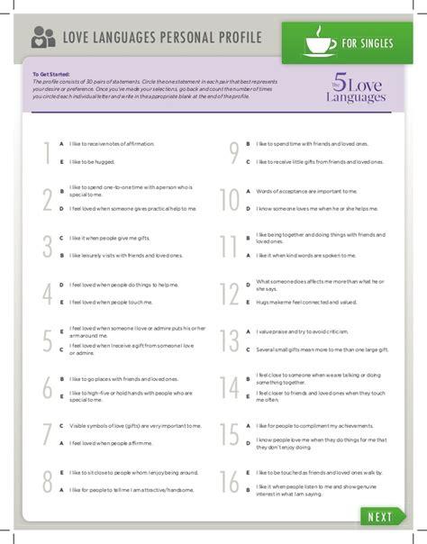 printable love quiz 5 love languages book covers