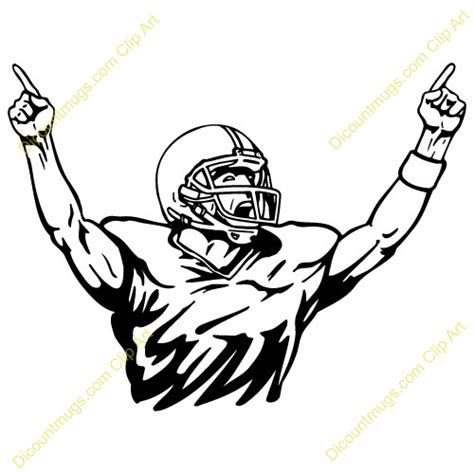 football player clip football player clipart black and white free clipart