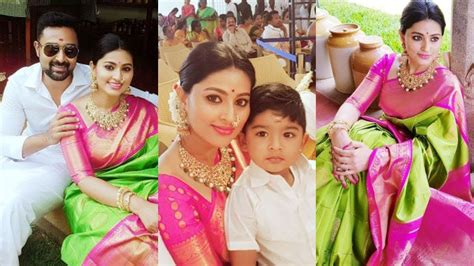 Recent Wedding Photos by Sneha With Family At Recent Wedding Photos