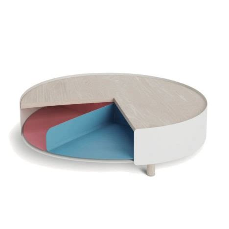 Coffee Table Offers Revealing Rotation Sliced Coffee Table Offers Storage