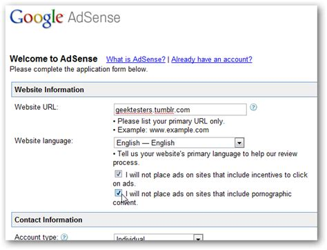adsense guidelines how to add google adsense to your tumblr blog