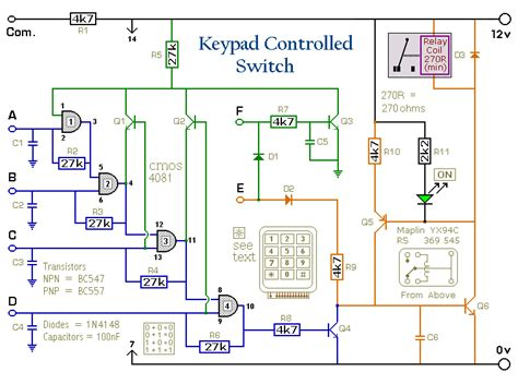Four Digit Keypad Operated Switch