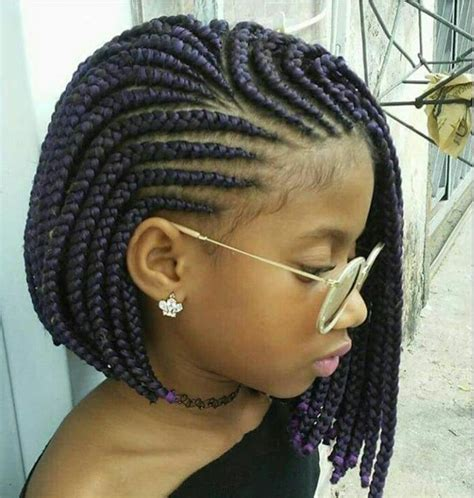 Braid Hairstyles For Black by Platted Large Box Braids Black