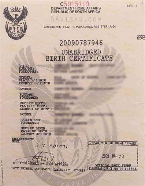 south birth certificate template unabridged birth certificate application south africa