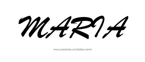 maria name tattoo name designs