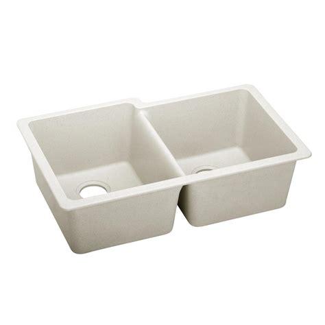 Premium Kitchen Sinks Elkay Premium Quartz Undermount Composite 33 In Bowl Kitchen Sink In Ricotta Elxu250rrt0