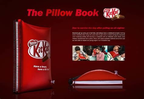 Kitkat Pillow Book kit pillow book why i do what i do advertising