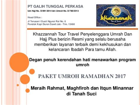 Paket 1 Wakroban Peduli Promo Duren paket umroh ramadhan 2017