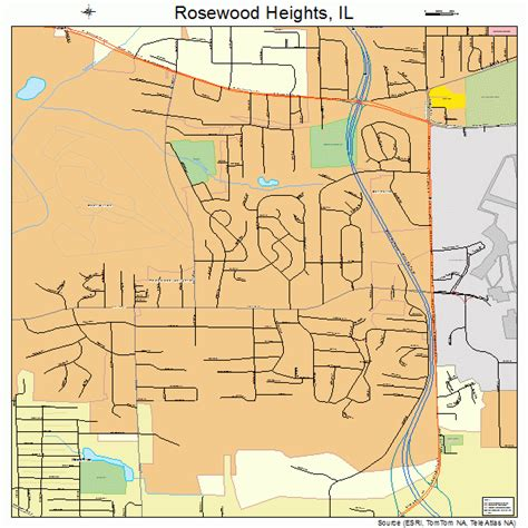rosewood usa map rosewood heights illinois map 1765884