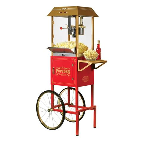 Colored Kitchen Faucets by Nostalgia 10 Oz Popcorn Machine And Cart Ccp1000red The