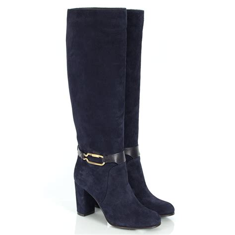 sergio navy suede knee high boots