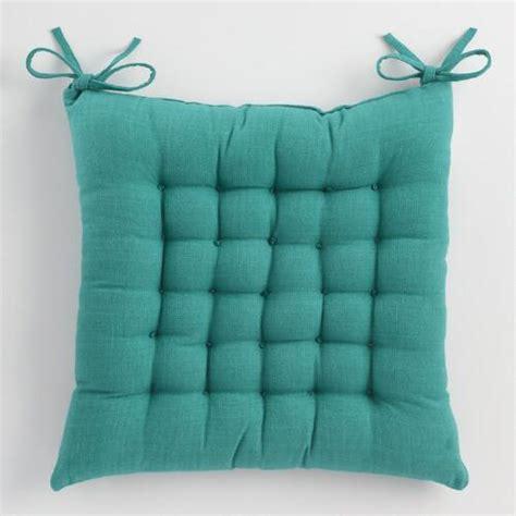 The Luxe Chairpad Blue blue dasutti chair cushion world market