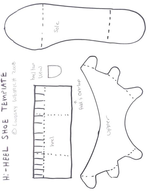 How To Make Paper Shoes Templates - 17 best images about paper shoes on nightly