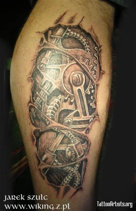 biomechanical gear tattoo sleeve biomechanical tattoos and designs page 258