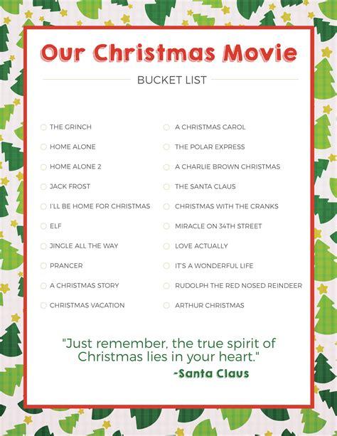 printable christmas movie list christmas movie bucket list love and marriage
