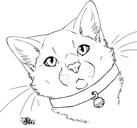 Outline Drawing by Free Cat Outline By Thesiubhan On Deviantart
