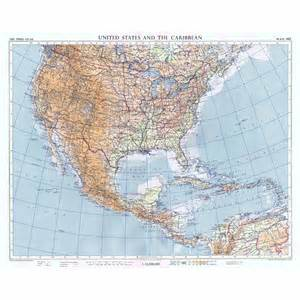 united states caribbean on chamberlin trimetric projection