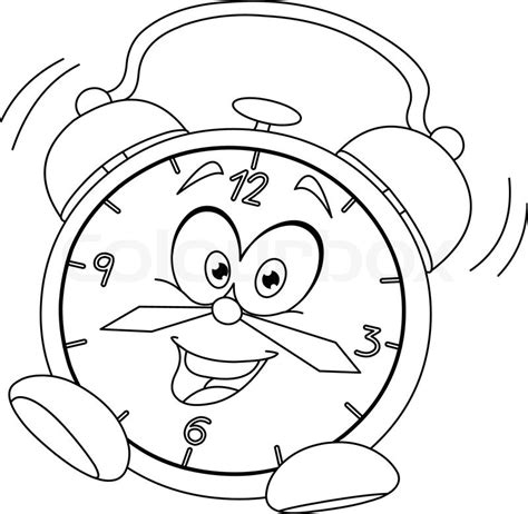 coloring pages vector outlined alarm clock vector illustration coloring