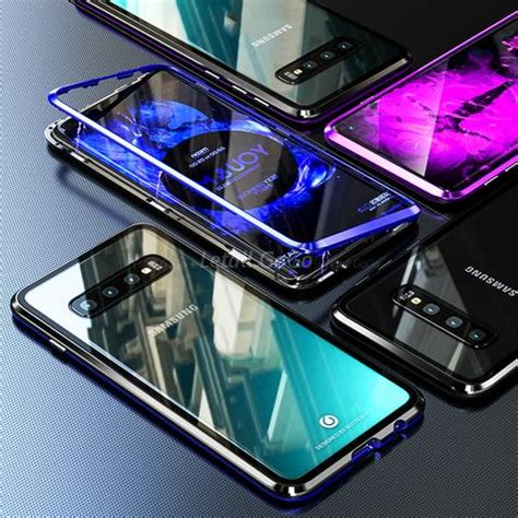tempered glass magnetic adsorption phone case  samsung