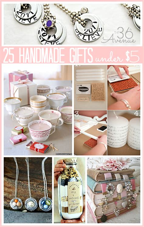 Gifts For Handmade - 25 handmade gifts 5 dollars the 36th avenue