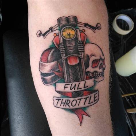 多款创意独特的霸气摩托车元素纹身图案 纹身秀