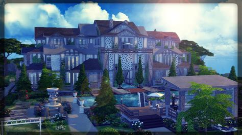 video house the sims 4 house building the edward mansion