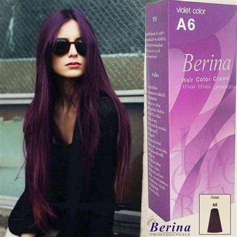 berina  purple violet permanent hair dye color cream