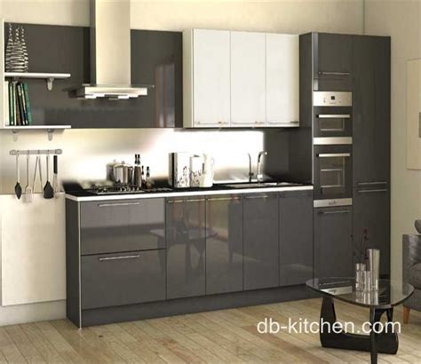 High Gloss Grey Kitchen Cabinets High Gloss Acrylic Grey Custom Modern Kitchen Cabinet