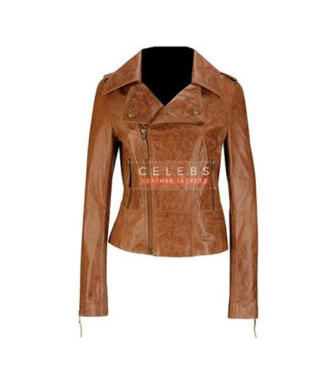 ladies brown leather biker womens brown biker jacket jackets review
