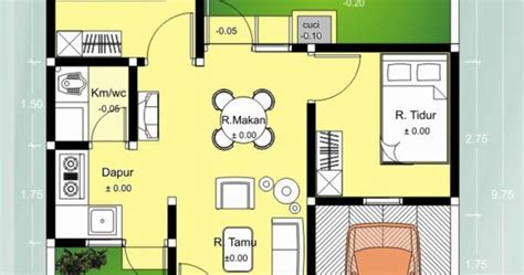 gambar denah rumah minimalis type 36 desain gambar furniture rumah minimalis modern terbaru
