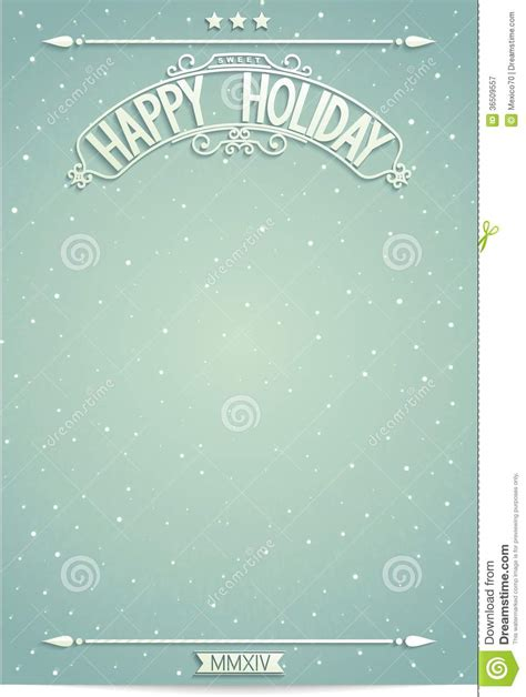 happy holiday poster template for wishes royalty free